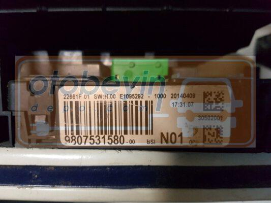 PEUGEOT & CITROEN 9807531580  22661F 01 SWH.00 E1095292