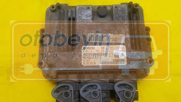 Peugeot 206 1.4 HDI Motor Beyni 9653202580  0281011089
