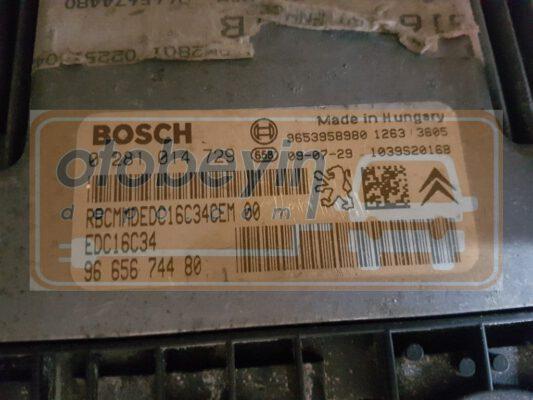 Citroen C4 picasso 1.6 hdi 0281014729 EDC 16C34