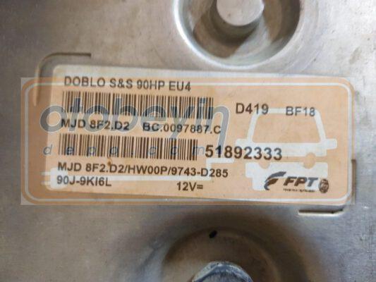 Fiat Doblo 2011 1.3 Magneti Marelli HW MJ8DFHW00P SW 9743D285