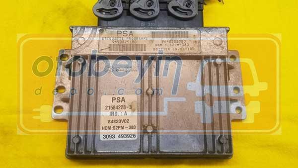 Citroen C3 1.4 Motor Beyni Sagem 9650825180 9642222380 21584228-3 S2PM-380