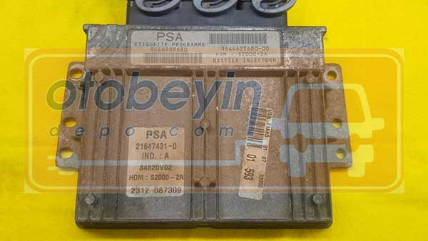 Peugeot 206 1.4 Motor Beyni 9646988680  964462568000  Sagem 216474310