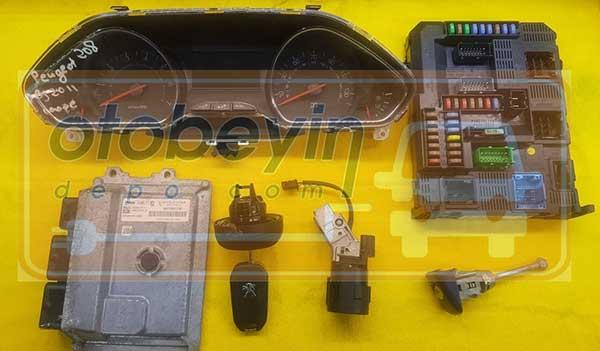 peugeot 208 gösterge bsi kontak kapı depo  anahtar ımmo motor beyni komple set